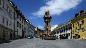 Holy Trinity Square, Banska Stiavnica, Slovakia, UNESCO royalty free stock photography