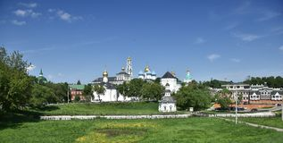Holy Trinity-St. Sergius Lavra - the largest Orthodox male stavropighial monastery in Russia (ROC). Holy Trinity-St. Sergius Lavra, the Orthodox monastery, the Stock Images