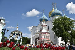 Holy Trinity-St. Sergius Lavra monastery. Travel to the Holy places of Russia Stock Photography