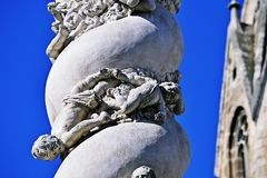 Holy Trinity statue in Sopron. Detail of Holy Trinity statue in Sopron, Hungary Stock Images