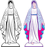 Holy Virgin Godmother vector Royalty Free Stock Image