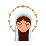 Holy virgin mary icon Stock Photo