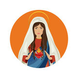 Holy virgin mary. Icon vector illustration graphic design Stock Images