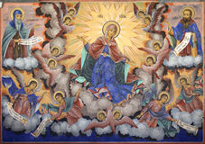 Holy Virgin Rila monastery fresco Stock Photography
