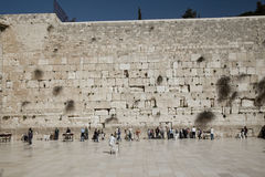 Holy Wailing Wall (Place for men) Stock Image
