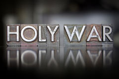 Holy War Letterpress Royalty Free Stock Image
