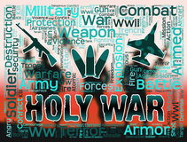 Holy War Shows Military Action And Battles Stock Photo