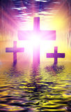 Holy water Cross Stock Photos