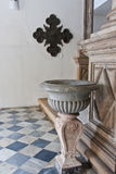 Holy Water Font in Madre de Deus Church Recife Royalty Free Stock Photos