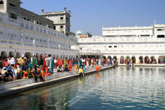Holy water sarovar Stock Images