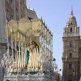 Holy week. In Malaga, Spain Stock Photo