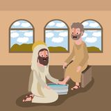Holy week biblical scene. Vector illustration design Royalty Free Stock Photo