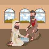 Holy week biblical scene. Vector illustration design Stock Photography