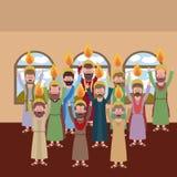 Holy week biblical scene. Vector illustration design Royalty Free Stock Image