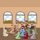Holy week biblical scene. Vector illustration design Stock Images