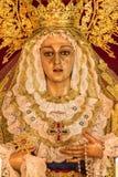 Holy week in Cadiz, Spain. Holy Mary of the Trinity. stock photos