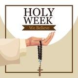 Holy week catholic tradition. Icon vector illustration graphic design stock illustration