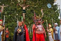 Holy week celebation in Alangasi, Ecuador Stock Photos