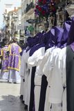 Holy week celebration at Ronda, Malaga, Spain. Flowers royalty free stock photography