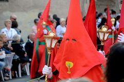 Holy Week celebration of Spain representation death and pasion of Jesus Crist Stock Photo