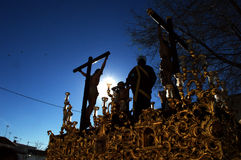 Holy Week celebrations 23. This is the celebration of the Holy Week Place: Carmona (Seville) Spain Date: 22 March 2015 Event: Holy Week celebrations royalty free stock photo