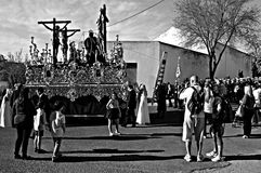 Holy Week celebrations 26. This is the celebration of the Holy Week Place: Carmona (Seville) Spain Date: 22 March 2015 Event: Holy Week celebrations royalty free stock photo