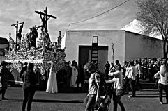 Holy Week celebrations 27. This is the celebration of the Holy Week Place: Carmona (Seville) Spain Date: 22 March 2015 Event: Holy Week celebrations stock images