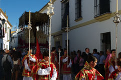 Holy Week celebrations 32. This is the celebration of the Holy Week Place: Carmona (Seville) Spain Date: 22 March 2015 Event: Holy Week celebrations stock images