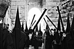 Holy Week celebrations 93. This is the celebration of the Holy Week Place: Carmona (Seville) Spain Date: 23 March 2015 Event: Holy Week celebrations royalty free stock images