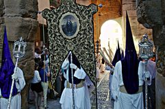 Holy Week celebrations 96. This is the celebration of the Holy Week Place: Carmona (Seville) Spain Date: 23 March 2015 Event: Holy Week celebrations royalty free stock image