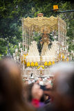 Holy Week in Malaga, Spain. Maria Santisima del Amparo. Royalty Free Stock Photography