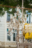 Holy Week in Malaga, Spain. Ornated candles. Stock Images