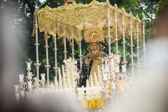 Holy week in Malaga, Spain. Virgin Mary of Pollinica procession. Stock Photo