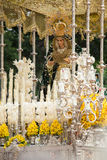 Holy week in Malaga, Spain. Virgin Mary of Pollinica procession. Stock Photos
