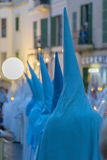 Holy week procession in palma de mallorca Royalty Free Stock Images