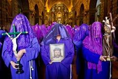 Holy week procession in Quito, Ecuador Stock Photos