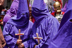 Holy week procession in Quito, Ecuador Stock Photography