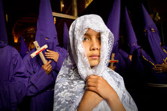 Holy week procession in Quito, Ecuador Royalty Free Stock Photo