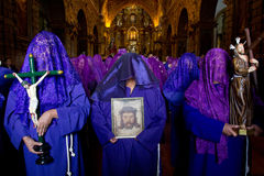 Holy week procession in Quito, Ecuador Royalty Free Stock Photography