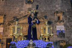 Holy week procession in Spain, Andalusia. Stock Image