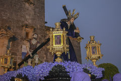 Holy week procession in Spain, Andalusia. Stock Photo