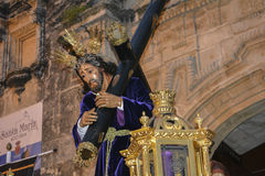 Holy week procession in Spain, Andalusia. Royalty Free Stock Images