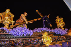Holy week procession in Spain, Andalusia. Royalty Free Stock Image