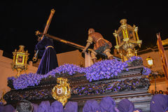 Holy week procession in Spain, Andalusia. Royalty Free Stock Photo