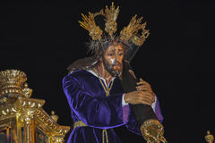 Holy week procession in Spain, Andalusia. Royalty Free Stock Photography