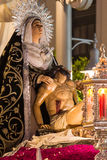 Holy Week in San Fernando, Cadiz, Spain. Brotherhood of charity. Royalty Free Stock Images