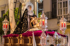 Holy Week in San Fernando, Cadiz, Spain. Brotherhood of charity. Stock Photography