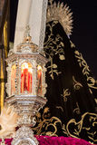 Holy Week in San Fernando, Cadiz, Spain. Detail of the passage of the brotherhood of charity. Royalty Free Stock Image