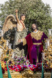 Holy Week in San Fernando, Cadiz, Spain. Prayer of Our Lord in the Garden. Stock Images