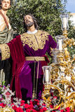 Holy Week in San Fernando, Cadiz, Spain. Prayer of Our Lord in the Garden. Royalty Free Stock Photography